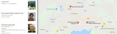 psykolog syddjurs google maps oversigt